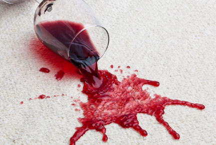 red wine spills